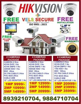 WHOLESALE      SALE  2MP HIKVISION HD CCTV CAMERA WITH FREE FIXING, 15