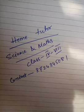 Contact me for home tutor