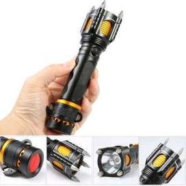 TaffLED Senter LED Tactical Self Defense Police Cre XM-L T6 2000 Lumen