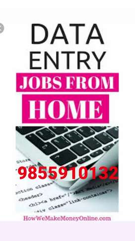 Good home based job data entry work