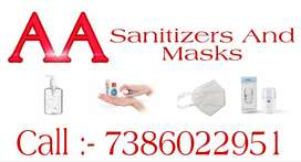 Sanitizers and N95 Masks
