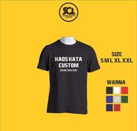 Kaos Kata Custom Desain Suka-Suka