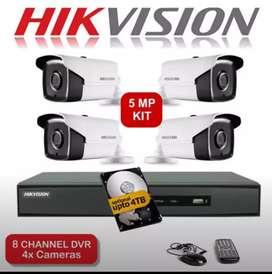 CCTV SPC LENGKAP LENSA 2MP 1080P DI TEMPURAN.