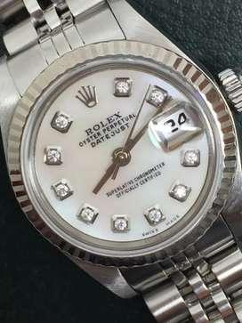Rolex ladies SS Datejust Kerang Diamonds