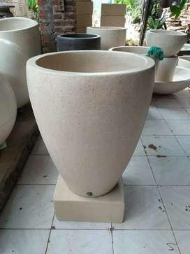 Bak mandi berbentuk vas (bgr kcl) terrazzo glossy