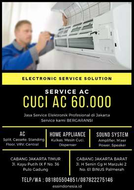 Cuci AC hanya 60.000  Pasang  AC  hanya 250 k