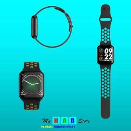 F8 PLUS SMART FITNESS WATCH WATER PROOF black color