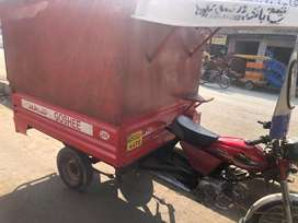 Big loader rickshaw with nic condition united motorcycle