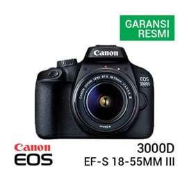 Canon eos 3000d kit 18-55mm III full set bonus