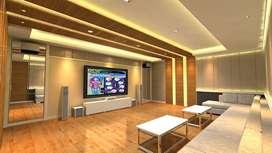 pembuatan Peredam suara akustik ruang multimedia home cinema PRO