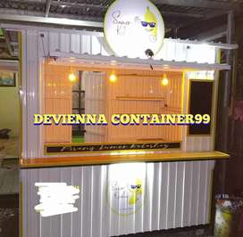 Pembuatan booth minimalis booth custom booth container semi container