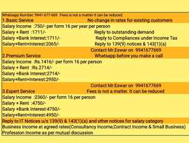 Contact experts for Income Tax E Filing