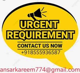 Male /female age under 32 Urgent requirement