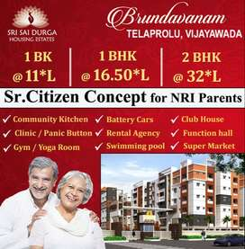 RERA Approved Gated Community 1 BHK, 2 BHK Flats 4r Sale in Gannavaram