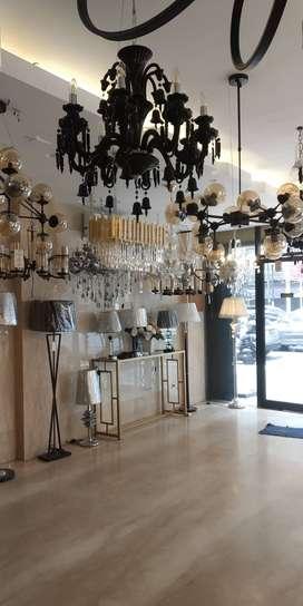Lampu kristal, hias & segala bentuk penerang ada di toko Pelita kami