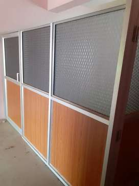 Aluminium partition for office purpose
