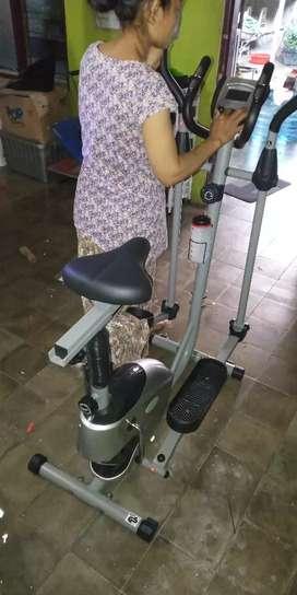 New sepeda fitnes jogging magnetik By Eliptical bike dua fungsi