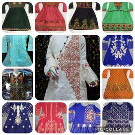 Pure Lawn and Cotton Print Embroidered Shirt kurti AirLine WHOLESALE