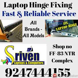 Laptops Hinges Repair and Fixing : Sriven Laptops NTR Complex-FF-83