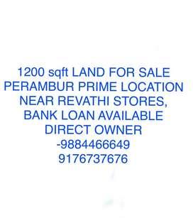 Land for sale in perambur Prime location
