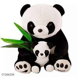 Cute panda teddy bear with baby panda 60 cm