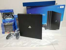 PS4 Pro 1TB Black Console 9 New Games New Controller Remote NBA2K play