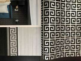 Office wallpapers and house collection wooden vinyl floor window blind