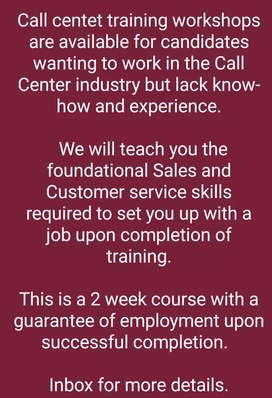Call Center trainings with Job Offer