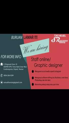 Lowongan staff online