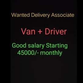 Wanted Delivery Van associate