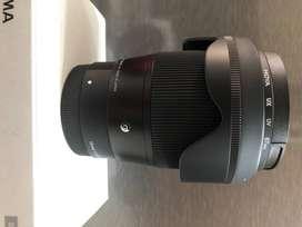 LENSA SIGMA 16MM F1.4 DC DN SONY E-MOUNT + FILTER