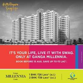 Dream Home on Sale # 2 BHK Flat, located in Undri, Ganga Millennia