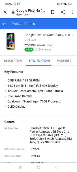 Google pixel 4a  6-128 brand new phone box pack