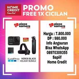 GoPro Hero8 Black Holiday Bundle Promo Free 1x Cicilan
