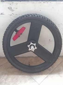Sepeda lipat Velg rim wheelset depan 16 racing palang steel cakram