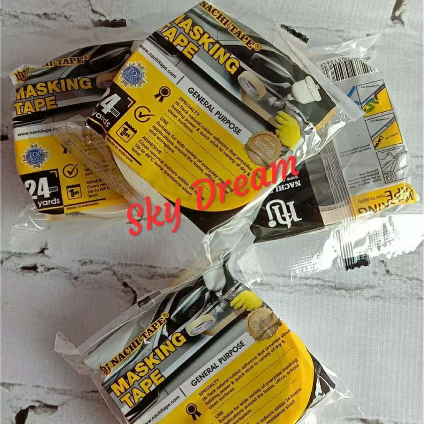 Masking tape/lakban kertas ukuran 1 inci