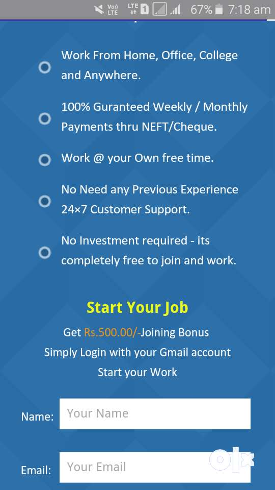 We are Hiring - Earn Rs.15000/- Per month - Simple Copy Paste Jobs 0