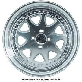 VELG RACING BRABUS R17X7.5 PCD 4X100 ET 0 CONFERO MOBILIO VIOS YARIS