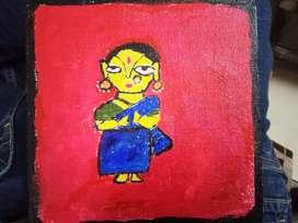 canvas painting 15.24*15.24 cm