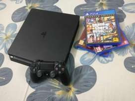 Sony PS4 SLIM 1TB Variant with 1 controller and 3 top games