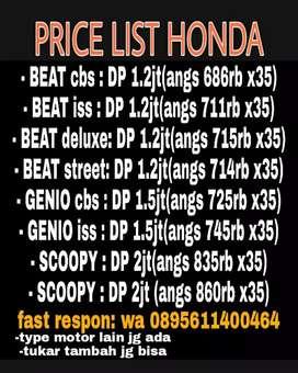 Honda Scoopy, PCX, ADV, CBR, Vario, Revo, Beat, Genio, Supra, dll