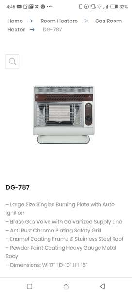 Nas Gas big sized Automatic gas heater