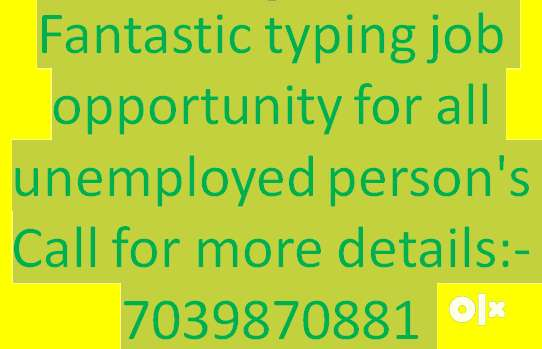 Offline data entry jobs, simple typing and accuracy based salary 0
