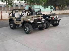 Jeeps Thar desert model and willys