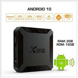 X96Q (2gb+16gb) OS 10 | 4K | Android Tv Box | 900 free live tv channel