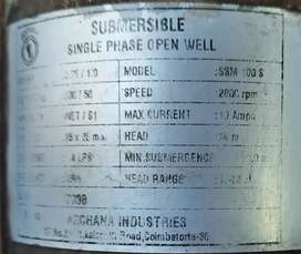 Open well 1hp Submersible pump