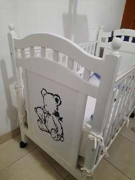 Set baby box/crib little equi + matras latex baby bee (Baca deskripsi)