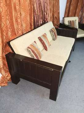 Sofa set, rocking chair, LCD Trolley and table