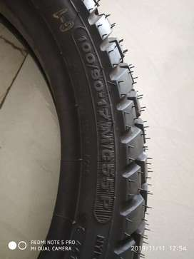 New tyres ceat 100/90/17 tube tyre