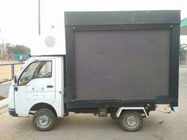 Advertising vehicle with LED display